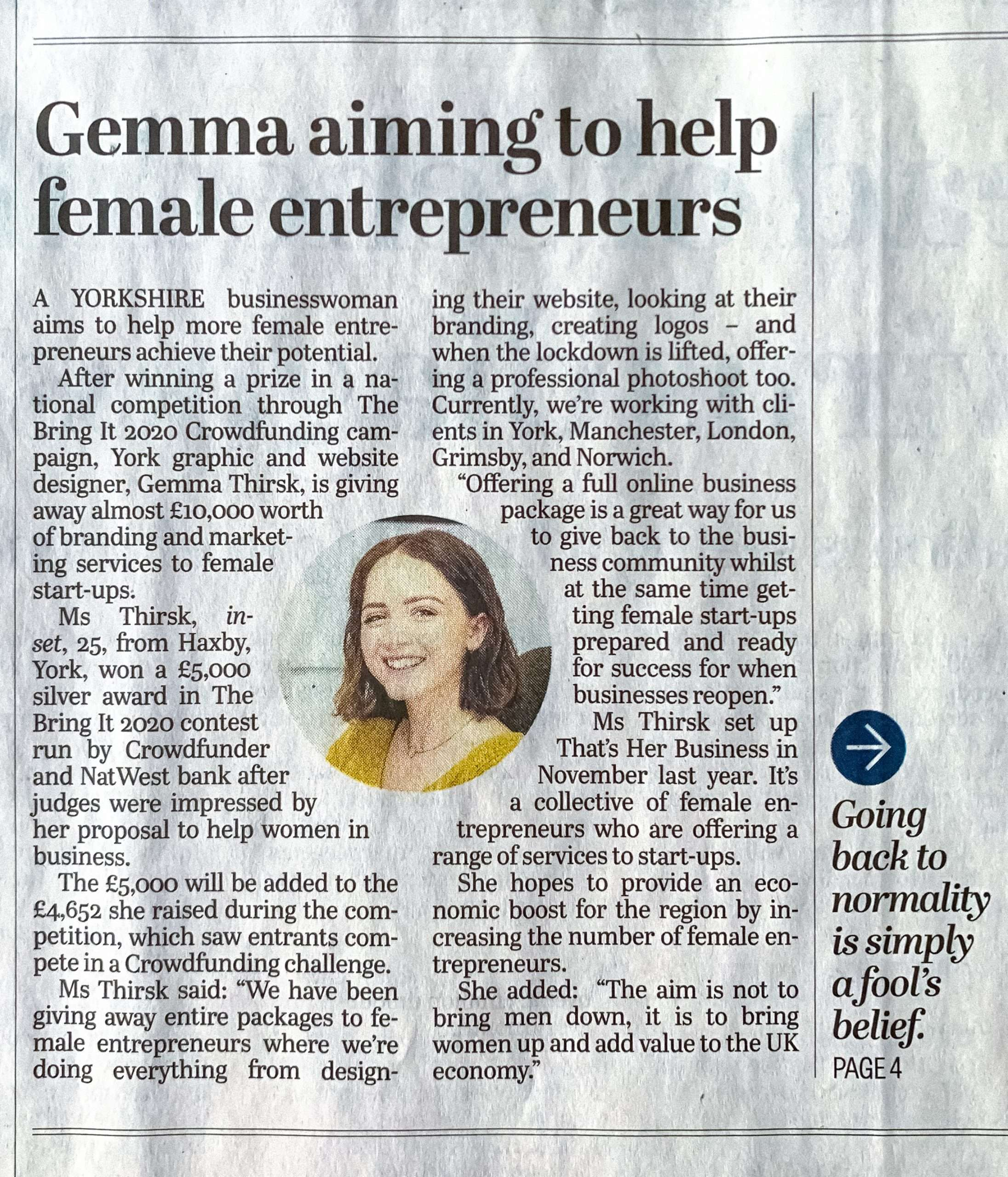 AN ENTREPRENEUR is giving away thousands of pounds worth of business support to help other female start-ups.