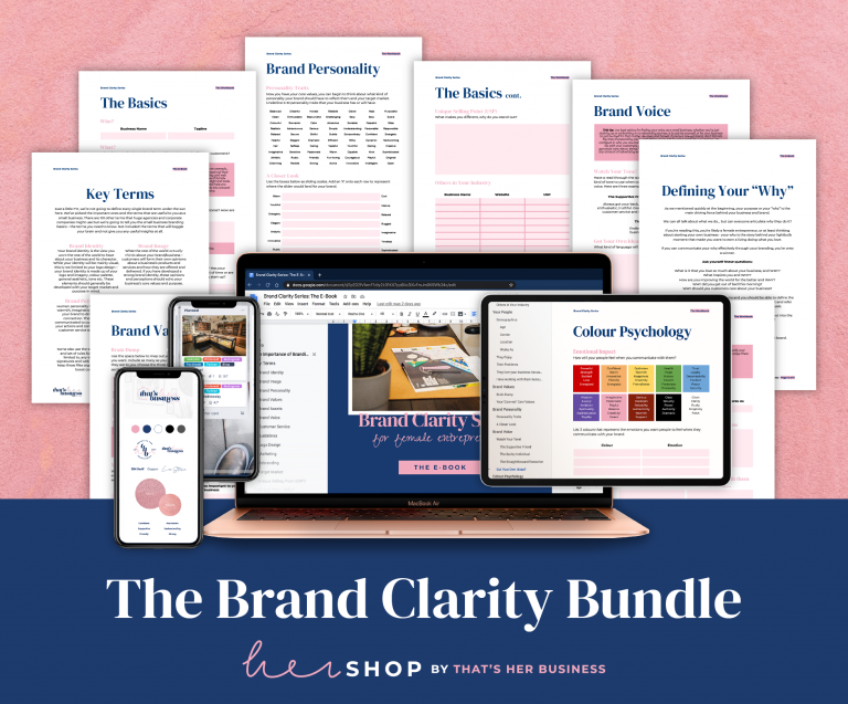 Brand Clarity Bundle Female Entrepreneur Shop