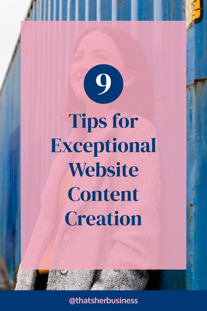 9 Tips for exceptional Website Content Creation